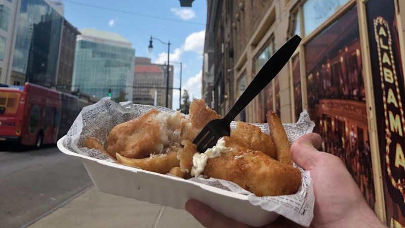 Fish and Chips in Birmingham, Alabama