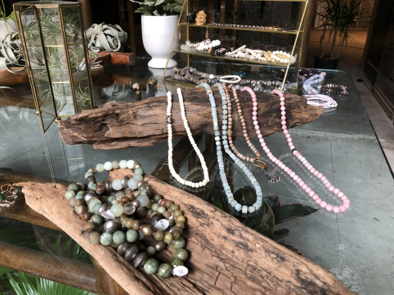 Jewelry on table display
