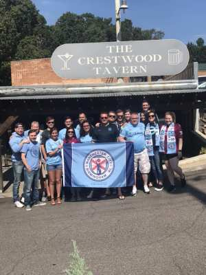 Manchester City fans at Crestwood Tavern