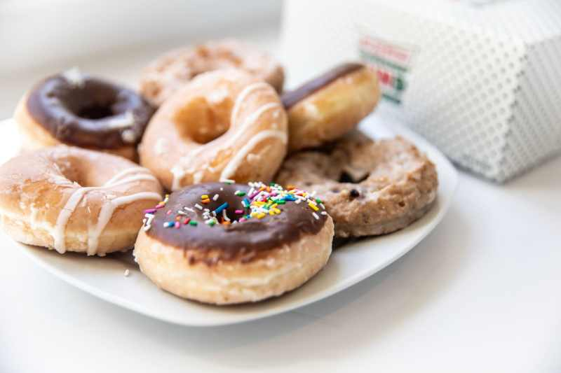 Krispy Kreme doughnuts from the new online ordering and delivery service