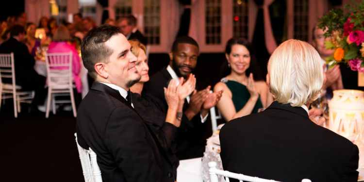 Carlos Izcaray, Randall Woodfin and others enjoying a previous year's Maestro's Ball.
