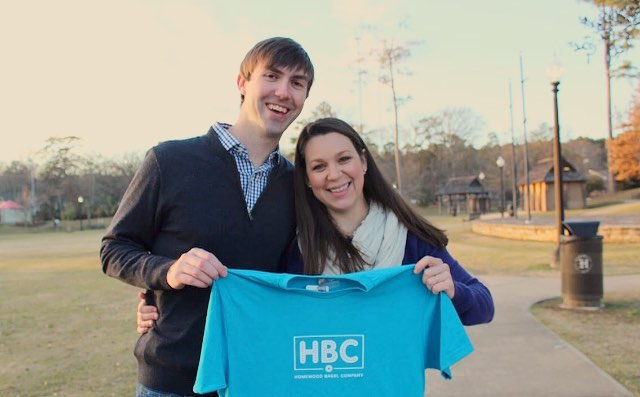 Owners with Homewood Bagel Co. shirt