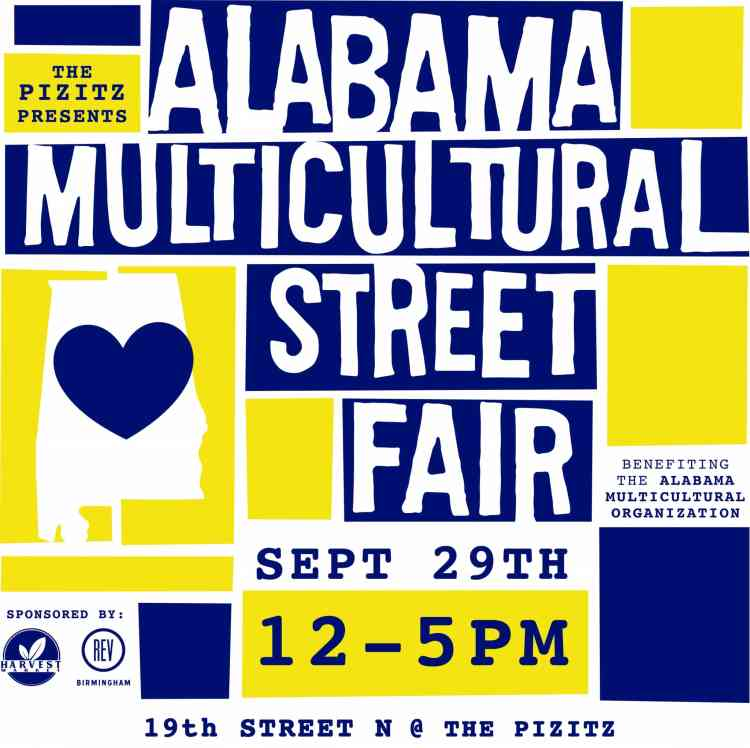 Poster for the Alabama Multicultural Street Fair 2019