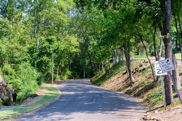 Birmingham, Altamont Road, drives, Driver's Way, Mountain Brook, views, scenery