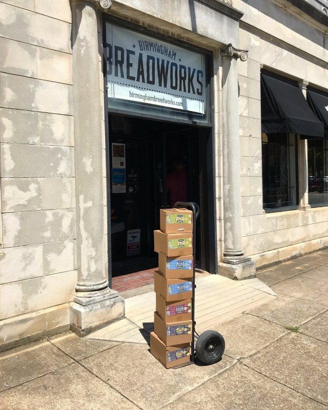 Birmingham Breadworks is one of many places that carries Harvest Roots kombucha