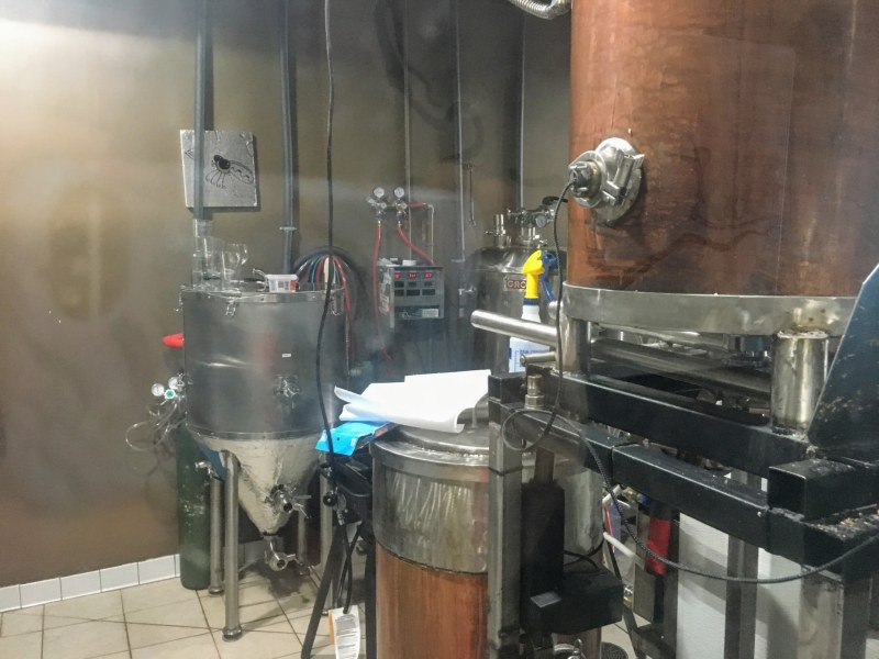 Hand-welded tanks at True Story Brewing Company