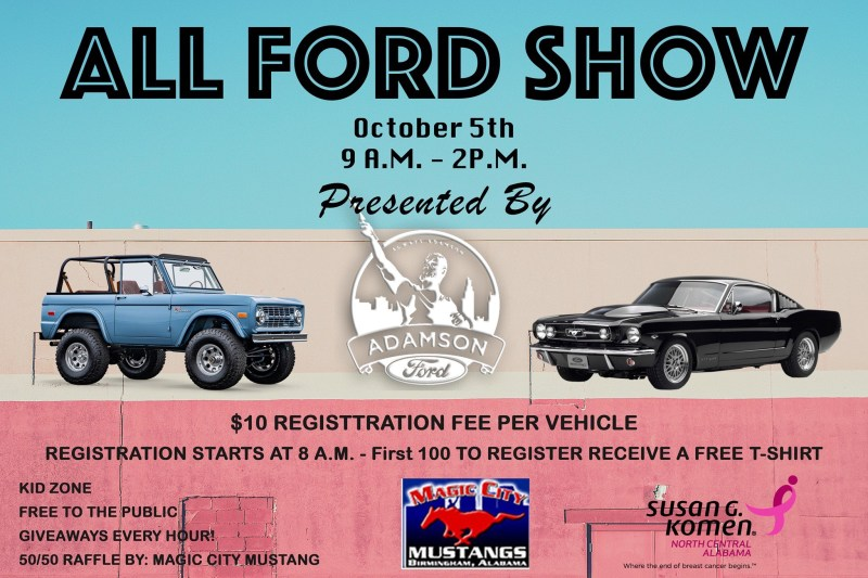 Adamson Ford All Ford Show October 5, 9AM-2PM