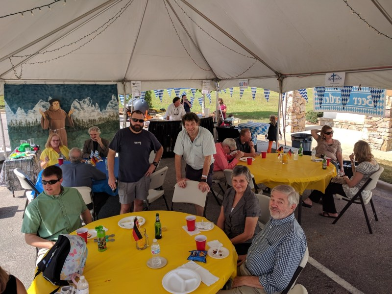 Guests at Our Savior Lutheran Church enjoy traditional Oktoberfest dishes