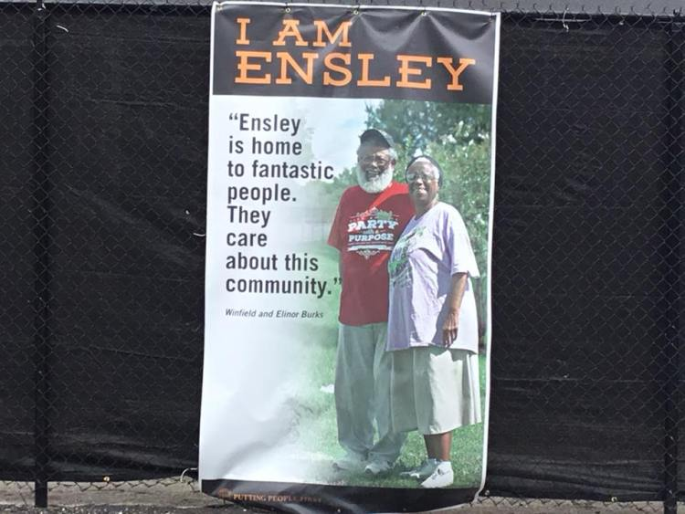 I am Ensley campaign around Ramsay-McCormick Building