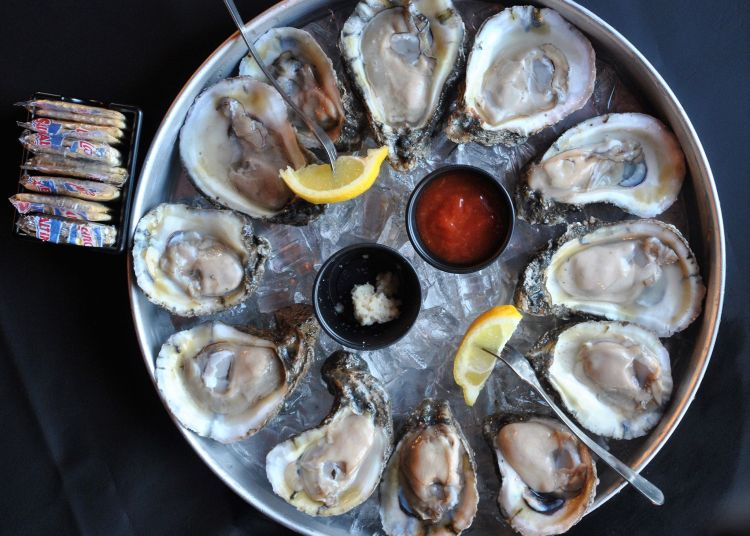 Oysters on the half shell at Half Shell Oyster House