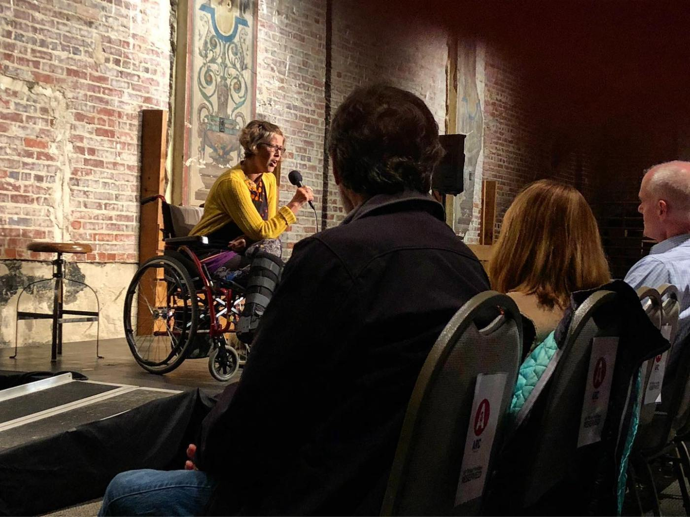 Telling stories at Arc Stories from a wheelchair