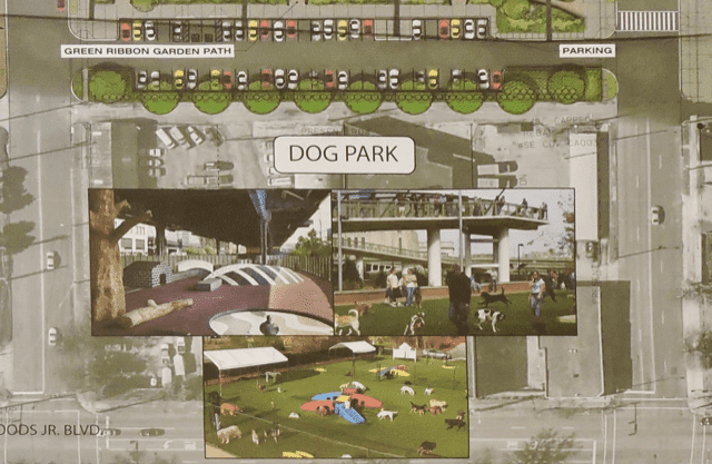 Dog park and parking at CityWalk BHAM
