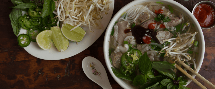 Pho - basically Vietnamese chicken soup with noodles in Birmingham