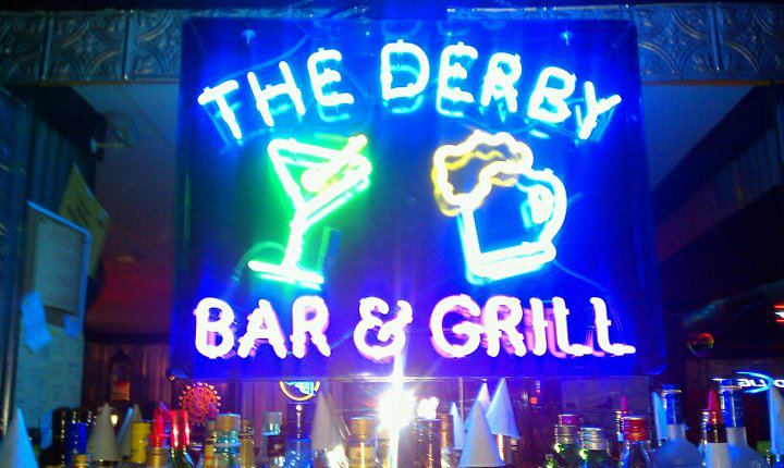 The Derby Bar and Grill neon sign.