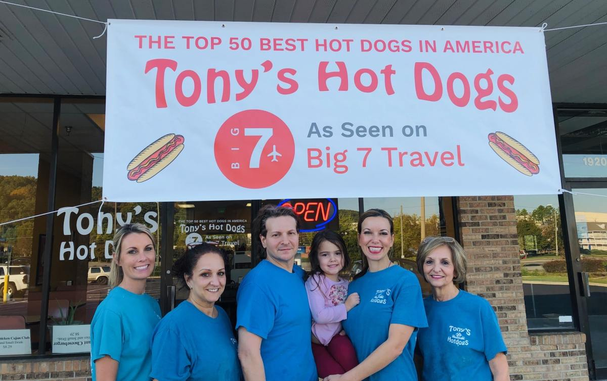Family-run Tony's Hot Dogs in Pelham named top 50 best hot dogs in America by Big 7 Travel