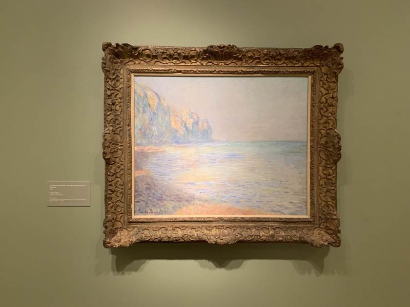Monet's painting of a foggy morning at Pourville,France.