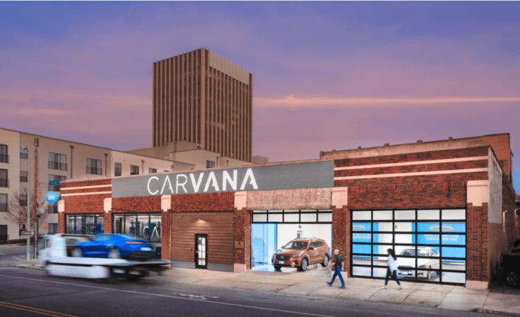 Carvana Birmingham curbside