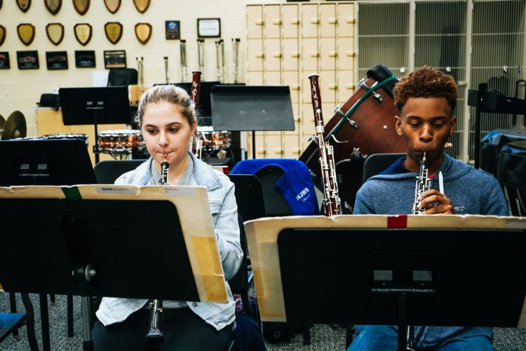 Oboe players in the Alabama Symphony Youth Orchestra