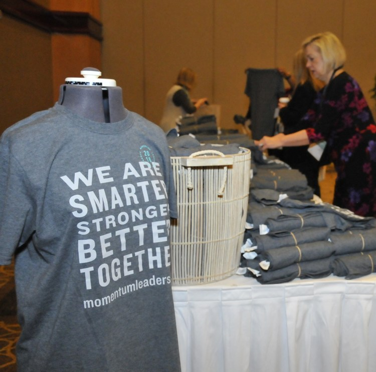 T-shirts at the expo at a previous Momentum conference