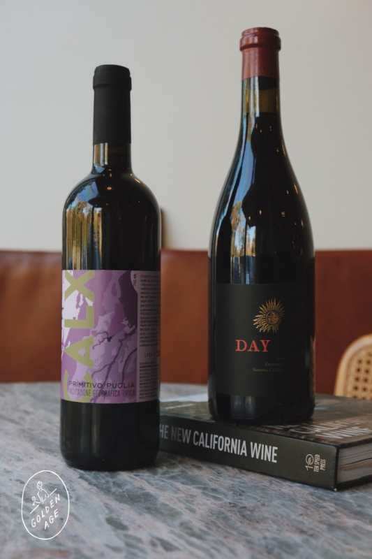 Two bottles of Zinfandel.
