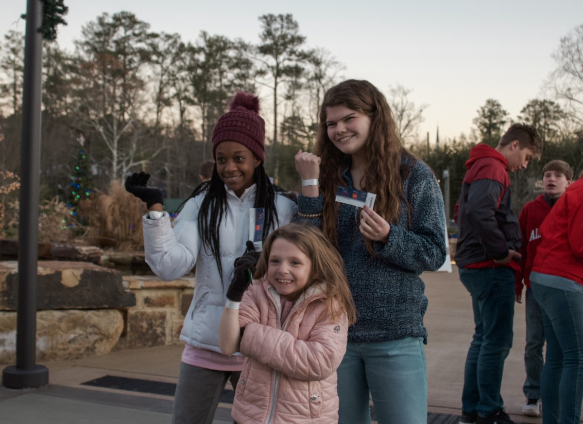50 children of Big Oak Ranch got to see the light show at the Birmingham Zoo
