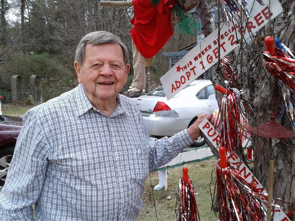 Don't miss 89 year old Bob Cissell's magical Christmas display made from salvaged tree limbs