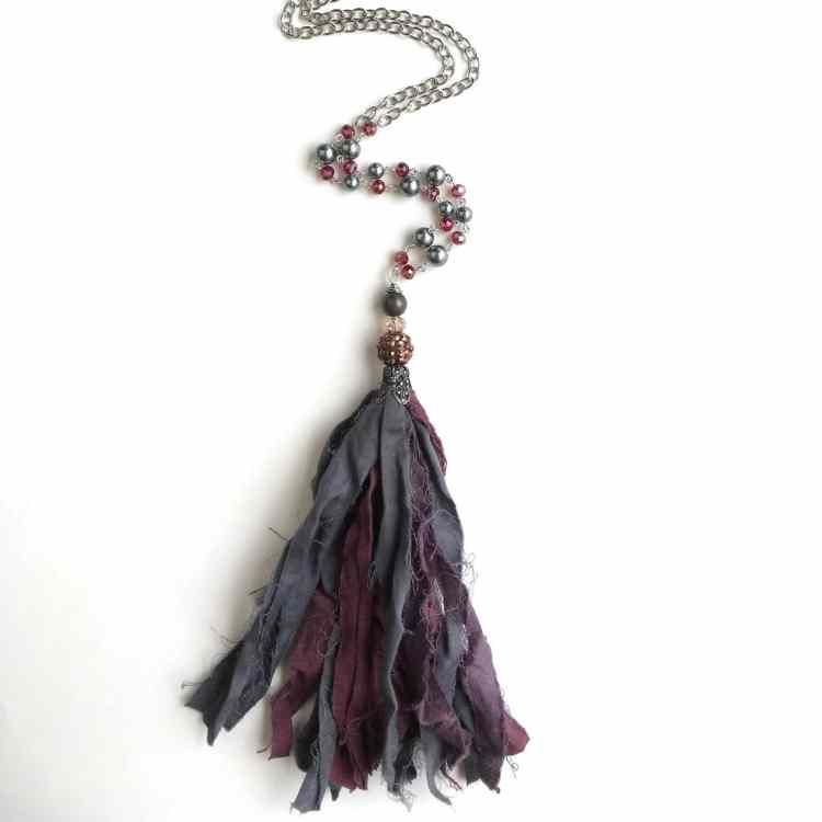Birmingham, Etsy, SassyAnnsShop, jewelry, tassel necklace
