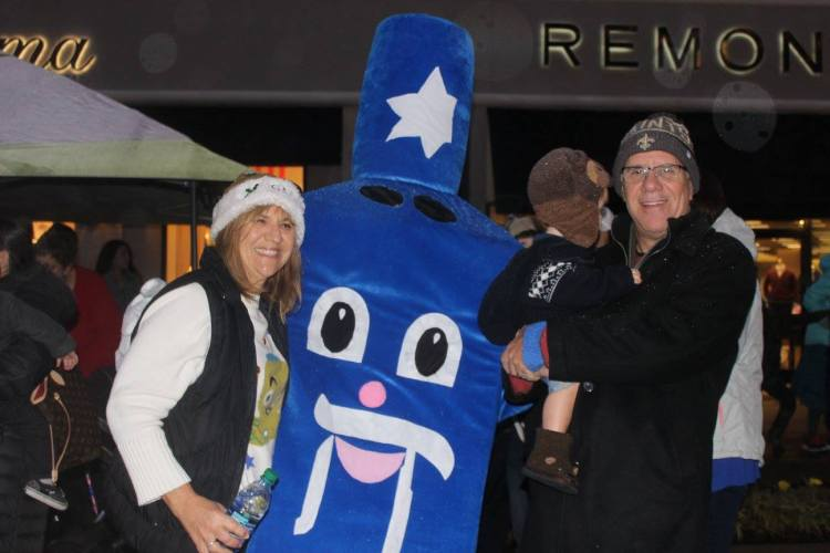 From the Grand Menorah Lighting at The Summit