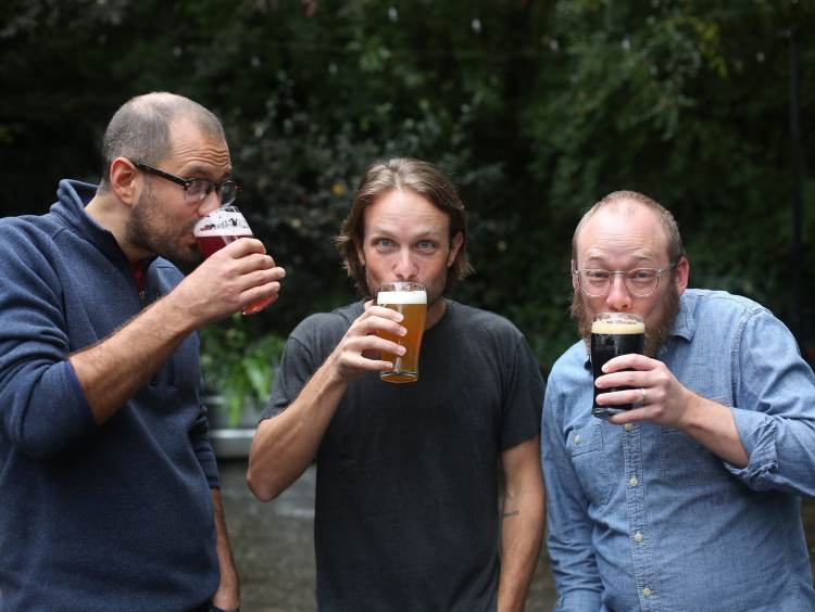 The three founders of Monday Night Brewing