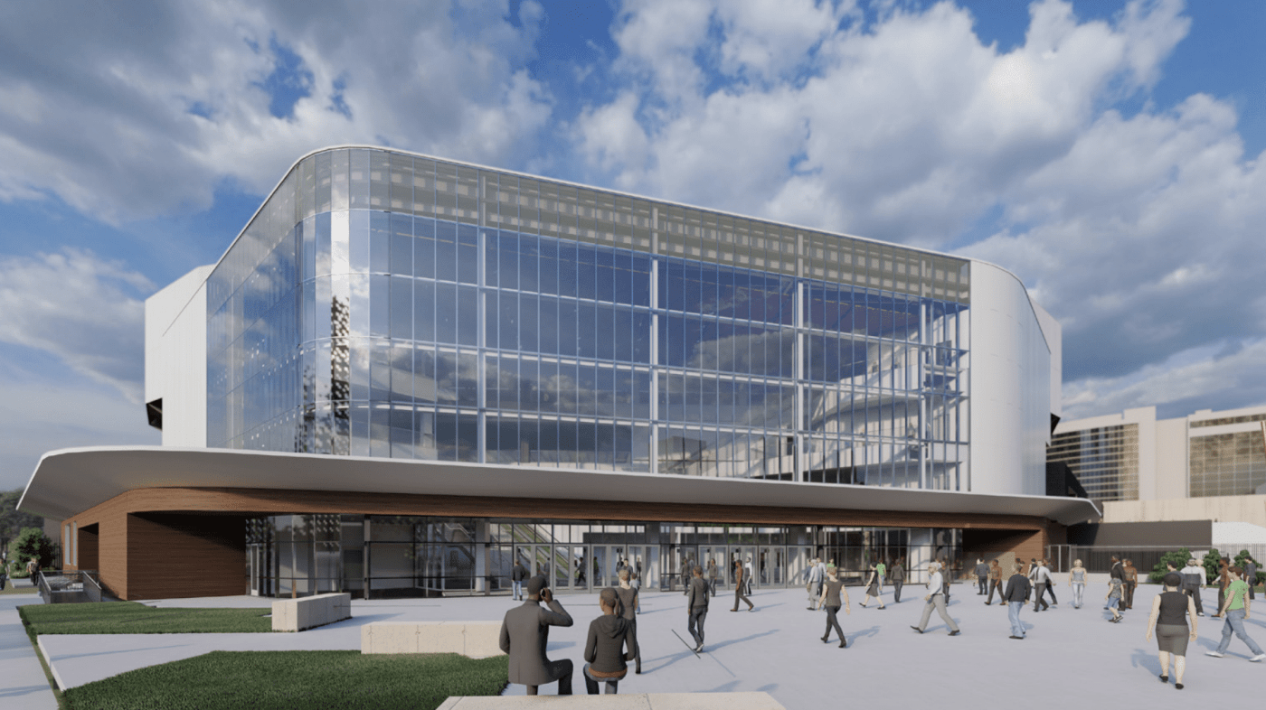 Rendering of Legacy Arena at The BJCC, exterior view