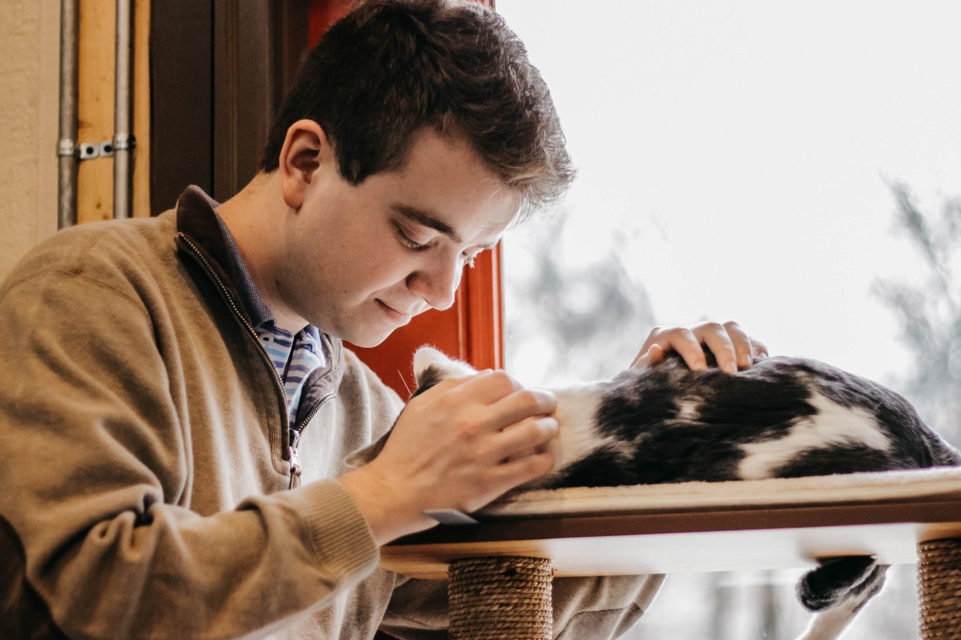 Nathan and cat