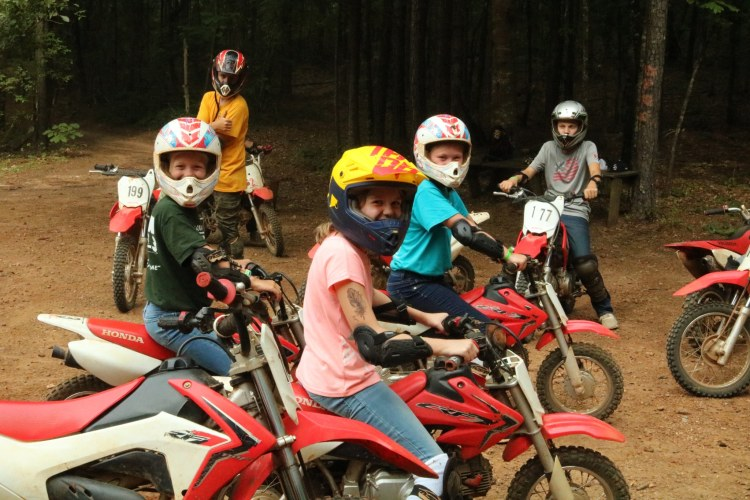 minibikes at YMCA Camp Cosby
