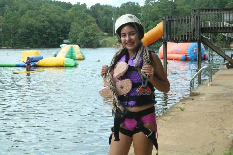 girl at camp