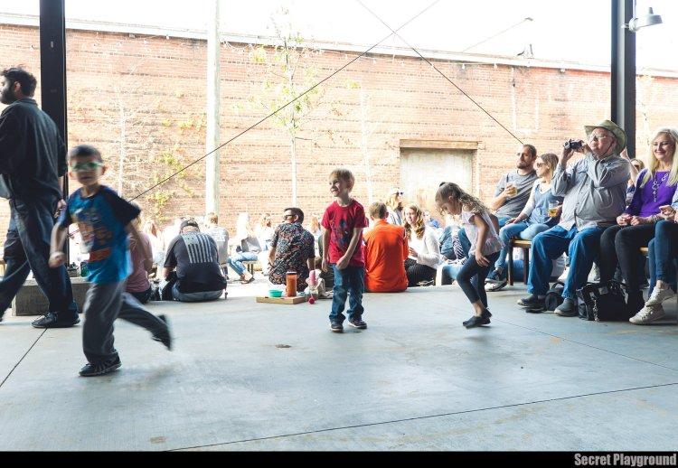 Kids dancing at AirWave