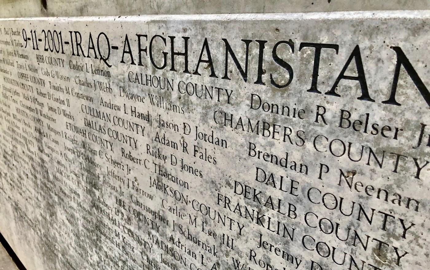 memorial of Alabama veterans