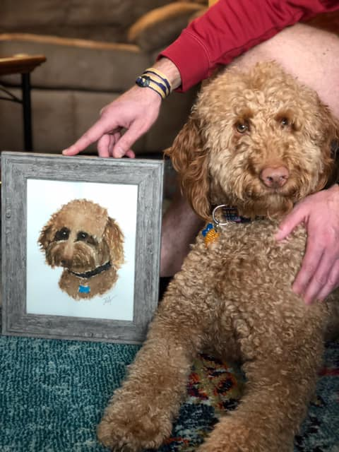 Commission a pet portrait from 5 Birmingham artists—no treats required