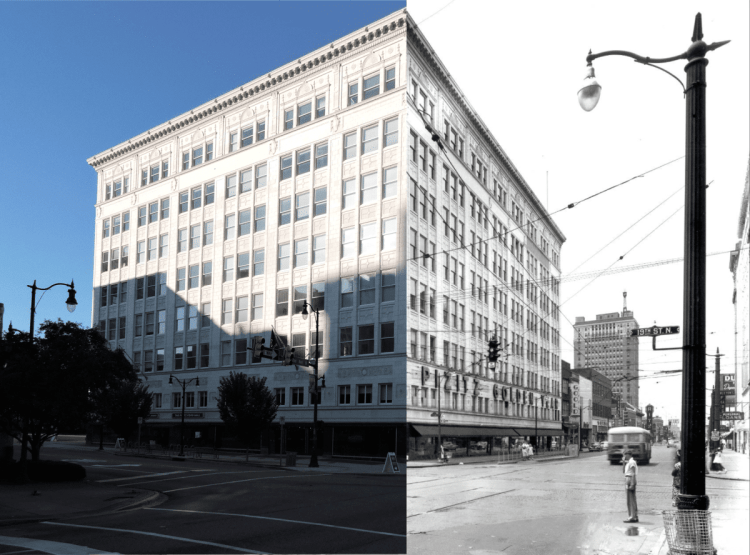 The Pizitz then and now