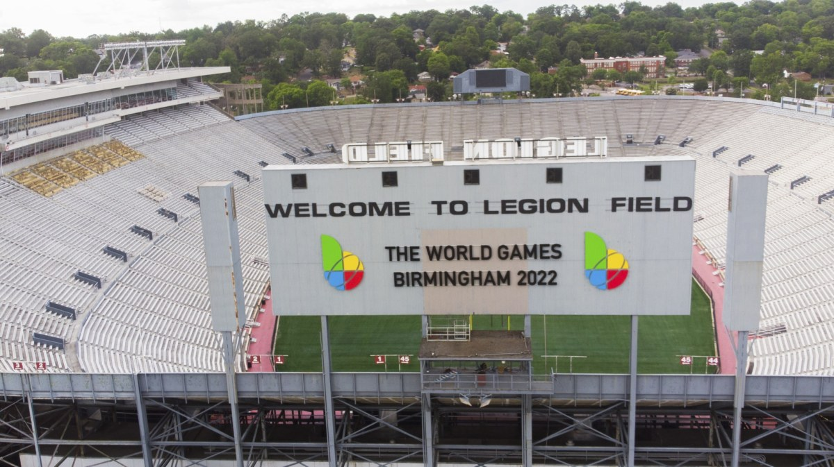 All signs say: The World Games 2022 Birmingham are coming