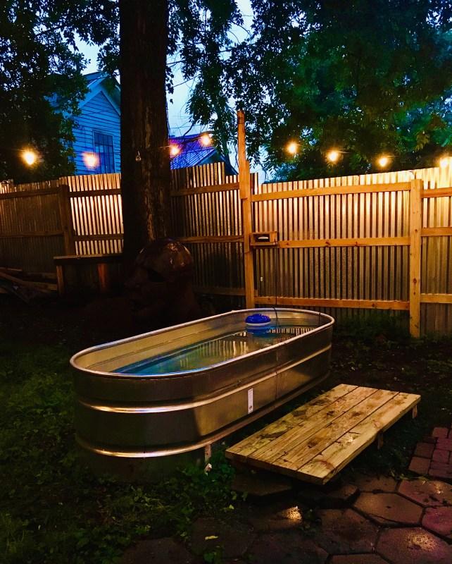 Birmingham, DIY stock tank pool, DIY backyard pool