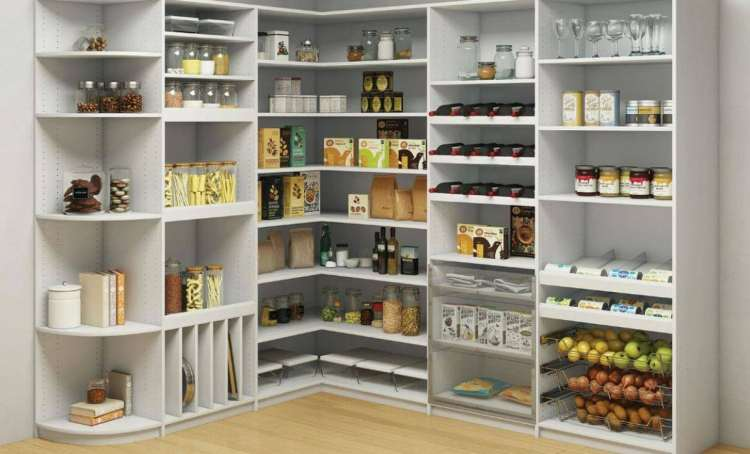 Can you imagine turning all of these shelves into a kid-friendly pantry?