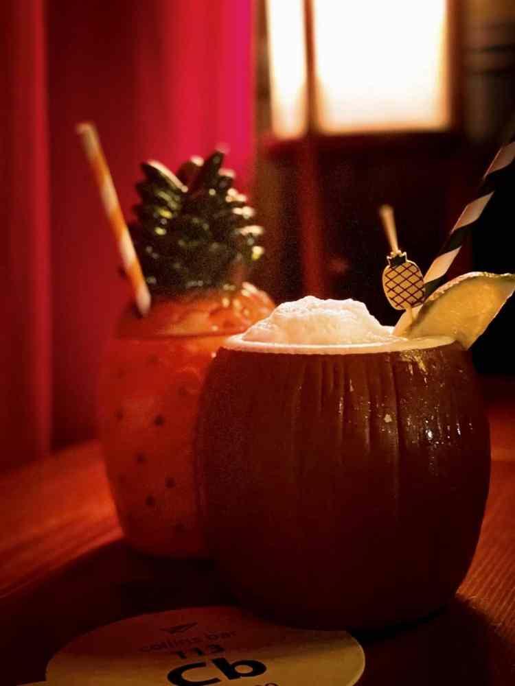 Birmingham, The Collins Bar, drinks, pina coladas