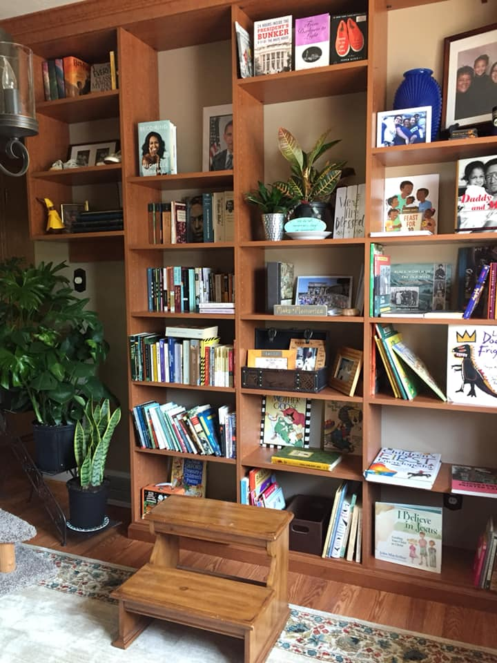 a family bookshelf helps you organize your child's room