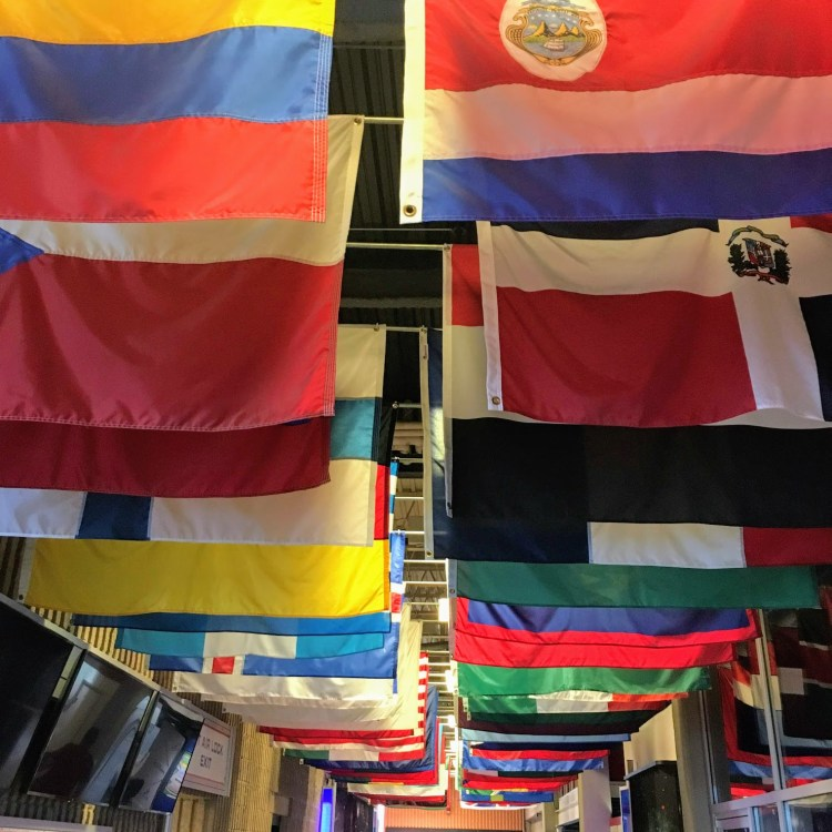 Flags at the U.S. Space & Rocket Center