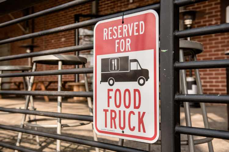 Food truck sign at Cahaba Brewing, site of the Funkiest Funky Food Truck Festival