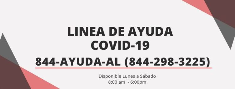1-844-298-3224 is a helpline in Spanish for the Hispanic community in and around Birmingham