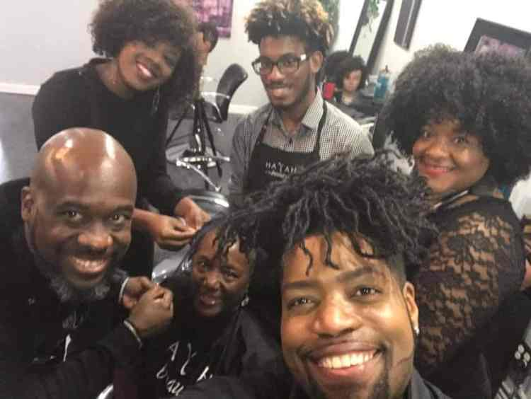 Stylists at Hayah Beauty which specializes in natural hair