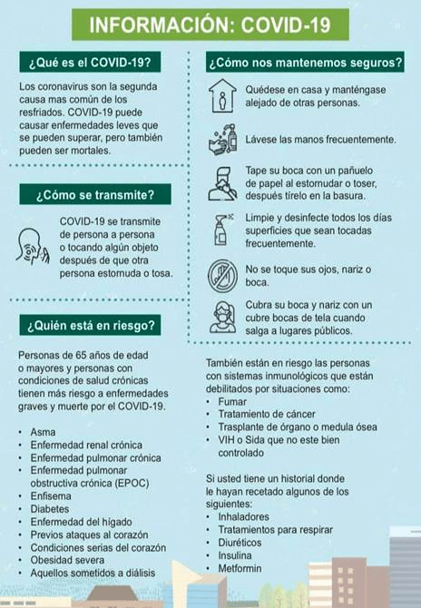 Information on COVID-19 in Spanish