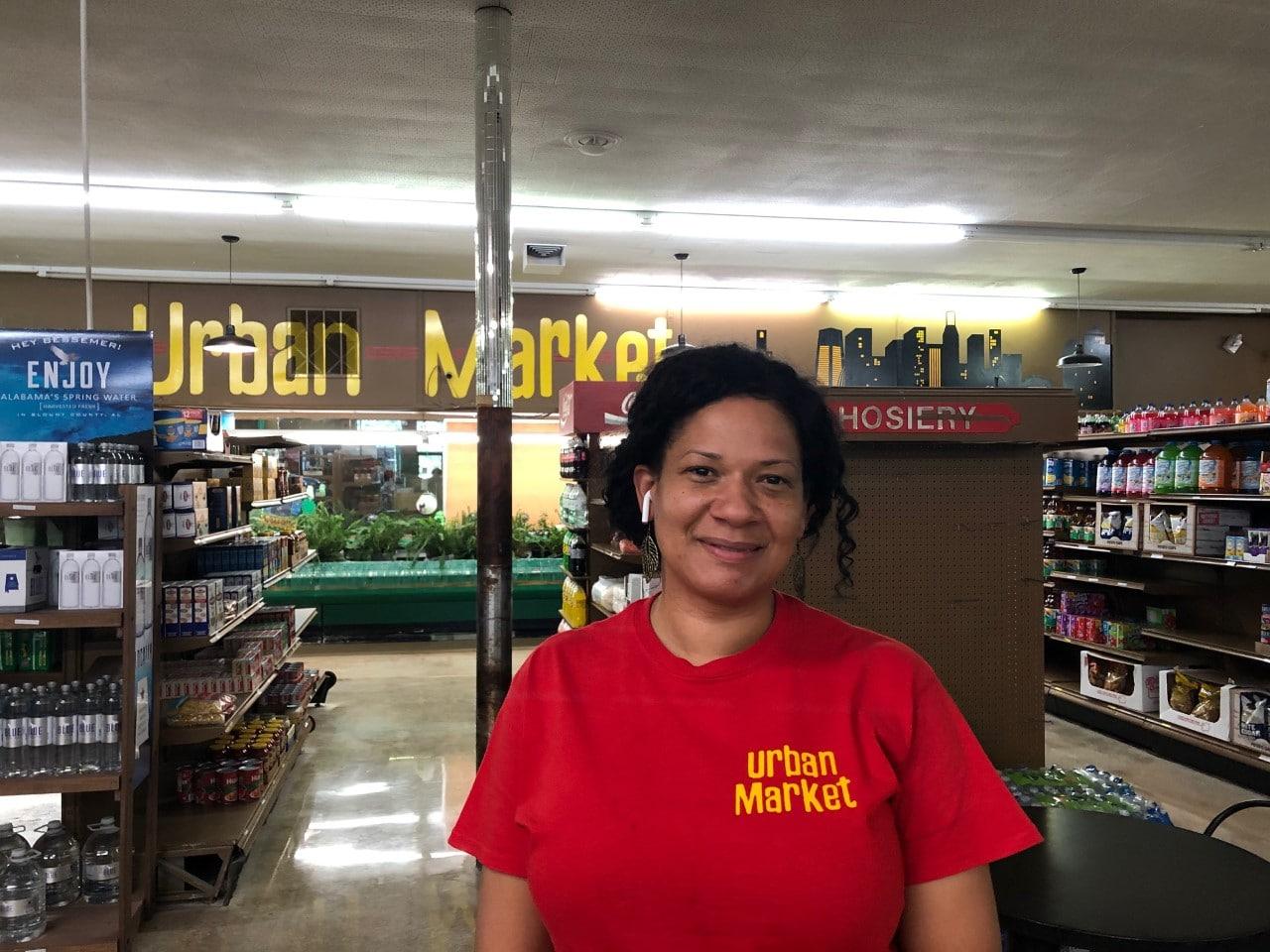 Mara Allen at Urban Market Discount Foods