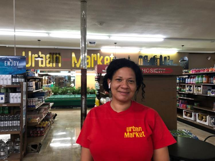 Mara Allen at Urban Market Discount Foods