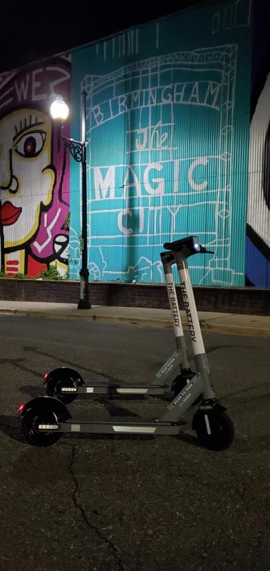 Photo of The Battery scooters by The Magic City mural